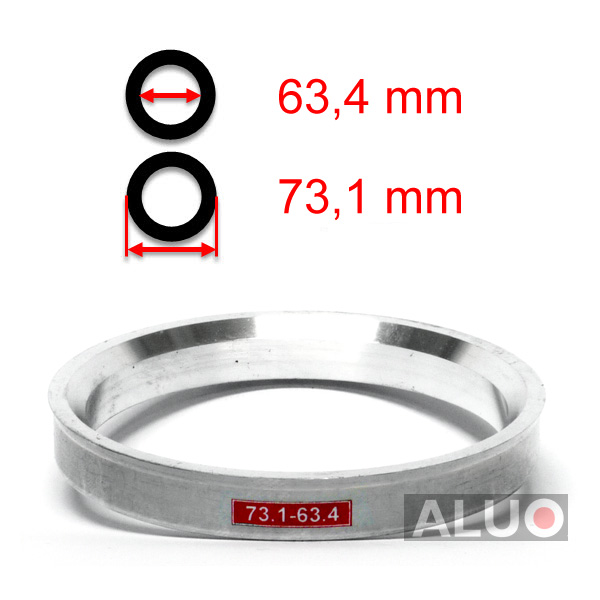 Alumimiums Centreringsringe 73,1 - 63,4 mm ( 73.1 - 63.4 )