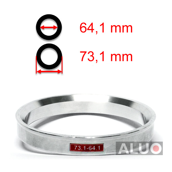 Alumimiums Centreringsringe 73,1 - 64,1 mm ( 73.1 - 64.1 )