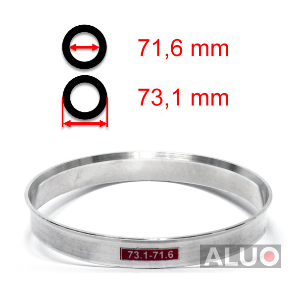 Alumimiums Centreringsringe 73,1 - 71,6 mm ( 73.1 - 71.6 )