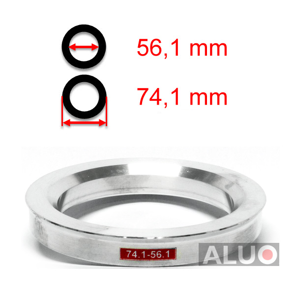 Alumimiums Centreringsringe 74,1 - 56,1 mm ( 74.1 - 56.1 )