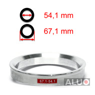 Alumimiums Centreringsringe 67,1 - 54,1 mm ( 67.1 - 54.1 )