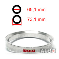 Alumimiums Centreringsringe 73,1 - 65,1 mm ( 73.1 - 65.1 )