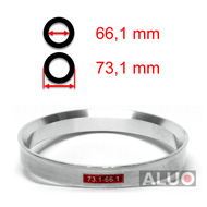 Alumimiums Centreringsringe 73,1 - 66,1 mm ( 73.1 - 66.1 )