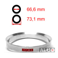 Alumimiums Centreringsringe 73,1 - 66,6 mm ( 73.1 - 66.6 )