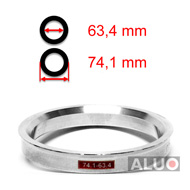 Alumimiums Centreringsringe 74,1 - 63,4 mm ( 74.1 - 63.4 )
