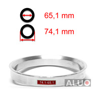 Alumimiums Centreringsringe 74,1 - 65,1 mm ( 74.1 - 65.1 )