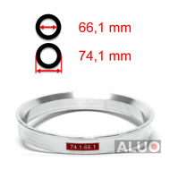 Alumimiums Centreringsringe 74,1 - 66,1 mm ( 74.1 - 66.1 )