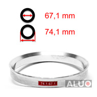 Alumimiums Centreringsringe 74,1 - 67,1 mm ( 74.1 - 67.1 )