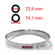 Alumimiums Centreringsringe 74,1 - 72,6 mm ( 74.1 - 72.6 )